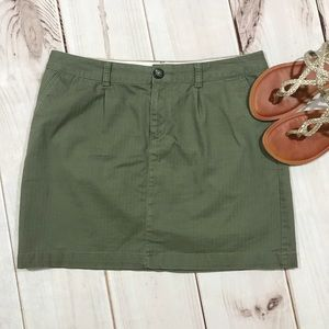 Dockers Olive Casual Chino Skirt